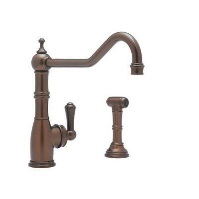 Rohl U.4747--2 Perrin and Rowe Collection Single Lever Single Hole Faucet with Sidespray, CA/VT Compliant: