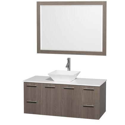 Wyndham Collection WCR410048GOWHD28WH