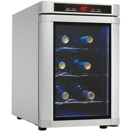 """Danby DWC620PLSC 11"""" Freestanding Wine Cooler, in Stainless Steel"""