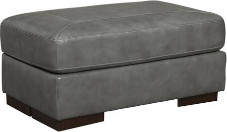 Signature Design by Ashley 1520214 Islebrook Series Contemporary Leather Wood Frame Ottoman