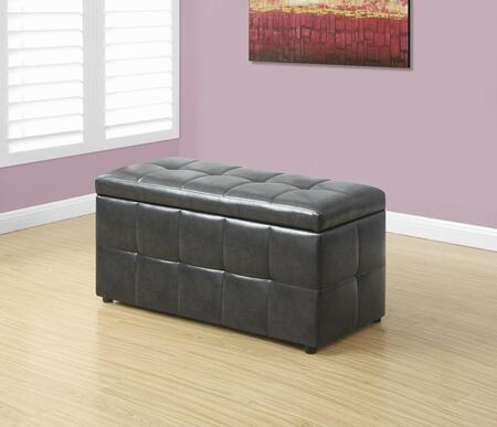 "Monarch I 898X 38"" Ottoman with Storage Area, Hinged Top and Tufted Details in"