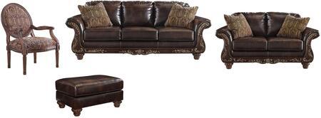 Milo Italia MI9295SLACOBRN Evelyn Living Room Sets
