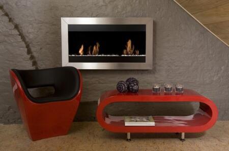 Bio-Blaze BBSQL2 Square Series Wall Mountable Vent Free Bioethanol Fireplace