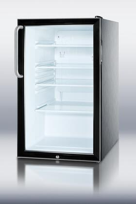 Summit SCR500BLCSS  All Refrigerator with 4.1 cu. ft. Capacity in Stainless Steel