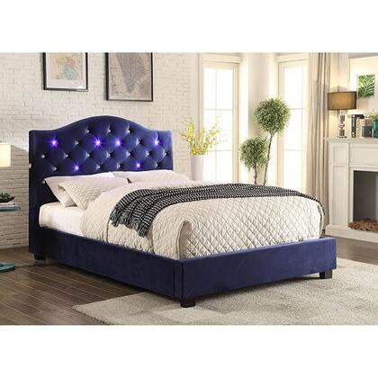 Furniture of America CM7421NVCKBED Betelgeuse Series  California King Size Platform Bed