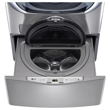 """LG WD100C 27"""" SideKick Pedestal Washer for Front Load Washer with 1.0 cu. ft. Right Size Capacity, Specialty Cycles, and Direct Drive Motor:"""