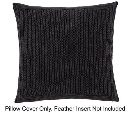 Milo Italia Kolton P197140MPTM Set of 4 Pillow Covers Made of Cotton with Knitted Texture in