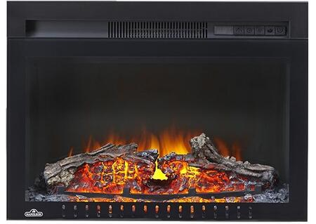 Napoleon NEFB Cinema Built-In Electric Fireplace with Multi-Function Remote, Realistic Logs and Ember Bed, and Heater with Up to 5,100 BTUs