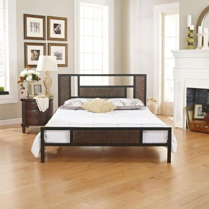 Rest Rite Celina Collection MFP01750xx X Size Platform Bed with Metal Frame and Modern Style in Black and Brown