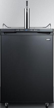 """Summit SBC635MBI7 24"""" Commercial Built In or Freestanding Single Tap Beer Dispenser with 5.6 cu. ft. Capacity, Casters, Digital Thermostat and Automatic Defrost:"""