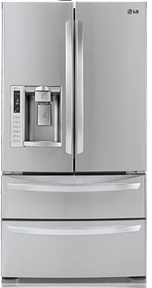 LG LMX28988ST  French Door Refrigerator with 27.5 cu. ft. Total Capacity 4 Glass Shelves |Appliances Connection