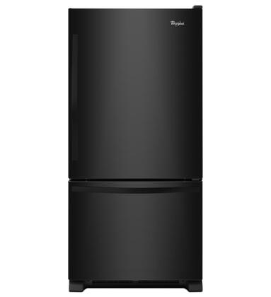 "Whirlpool WRB322DMBW 33"" Energy Star Bottom Freezer Refrigerator with 22.1 cu. ft. Capacity, LED Lighting, SpillGuard Glass Shelves, FreshFlow Produce Preserver and Ice Maker, in"