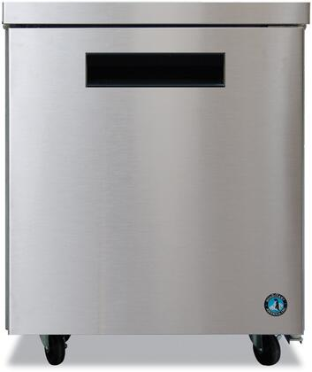 """Hoshizaki CRMF27xx 27"""" Commercial Undercounter Freezer with 7.2 cu. ft. Capacity, Stainless Steel Exterior, 1 Epoxy Coated Shelf, Stepped Door Design, and Field Reversible Door, in Stainless Steel"""