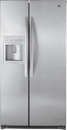 LG LSC27910TT  Side by Side Refrigerator with 26.5 cu. ft. Capacity in Titanium