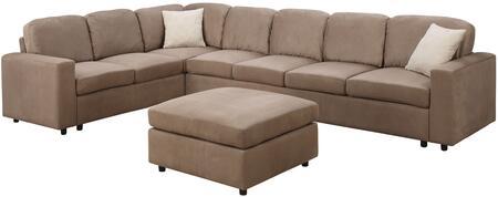 Acme Furniture 56010 Dannis Series Stationary Microfiber Sofa