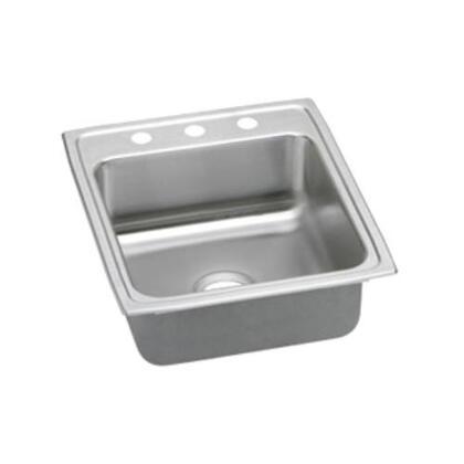 """Elkay LRAD202245 Lustertone 4-1/2"""" Top Mount Single Bowl Stainless Steel Sink"""