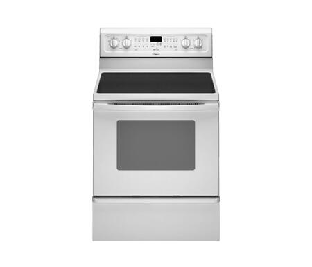 Whirlpool GFE471LVQ Gold Series Electric Freestanding Range with Smoothtop Cooktop, 5.3 cu. ft. Primary Oven Capacity, Warming in White
