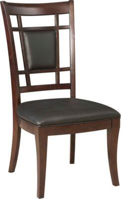 Broyhill 4467581 Avery Avenue Series Contemporary Leather Wood Frame Dining Room Chair