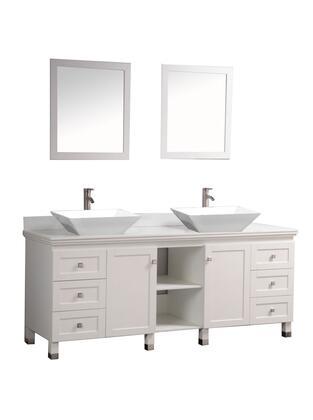 MTD MTDWA6472 Belarus 72 Double Sink Bathroom Vanity Set