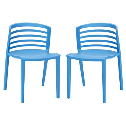 Modway EEI-935-XXX Curvy 2x Modern Dining Chairs of Easy to Clean Durable Molded Plastic