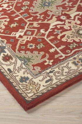 """Signature Design by Ashley Forcher R401852 """" x """" Size Rug with Kilim Design, Hand-Woven, 13mm Pile Height, Wool Material and Backed with Cotton in Brick Color"""
