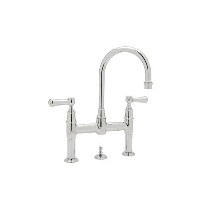 Rohl U.3708LSP--2 Perrin and Rowe Collection Georgian Era Deck Mounted Lavatory Bridge Faucet:
