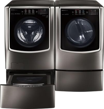 LG Signature 714569 Black Stainless Steel Washer and Dryer C