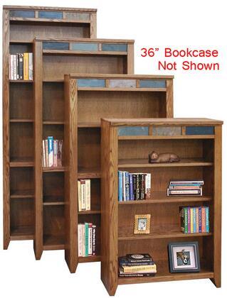 Legends Furniture OC6636GDOOak Creek Series Wood 3 Shelves Bookcase