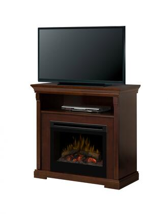 Dimplex GDS25-1362 Thornton Fireplace Media Console, with Realistic Flame Technology, Optional Heat Emission, Cool Glass Front, and Remote Control, in Black