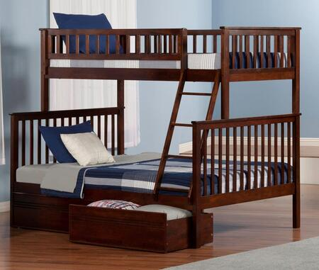 Atlantic Furniture AB56214  Twin Over Full Size Bunk Bed