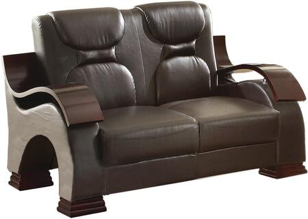 Glory Furniture G485L Faux Leather Stationary Loveseat