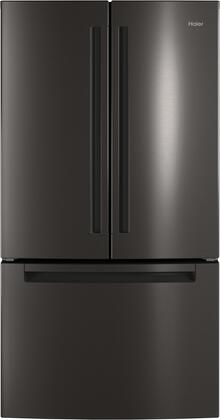 Haier QNE27JBMTS Black Stainless French Door Refrigerator