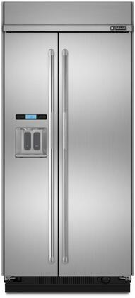 "Jenn-Air JS42TDUDE 42"" Built-In Side by Side Refrigerator with 25.02 cu. ft. Capacity, Obsidian Interior, Cube or Crushed Ice and Water Dispenser, Precision Temperature Management, Produce Preserver, in Stainless Steel"