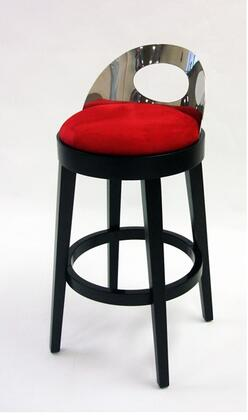Armen Living LC4046BARE26 Residential Polyester Upholstered Bar Stool