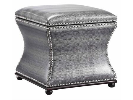 Stein World 57219 Dion Series Traditional Fabric Ottoman
