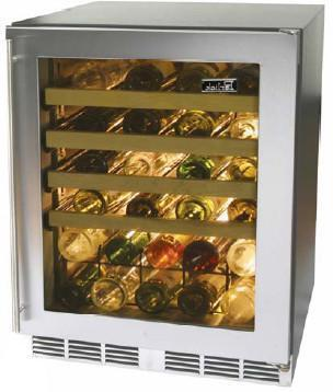 """Perlick HC24WB3RDontUse 23.875"""" Built-In Wine Cooler, in Stainless Steel"""