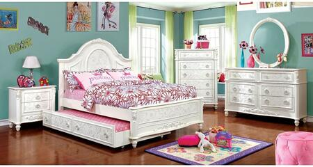 Furniture of America Henrietta 5 Piece Full Size Bedroom Set