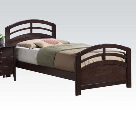 Acme Furniture San Marino Collection Size Bed with Medium-Density Fiberboard (MDF) and Solid Wood Construction in