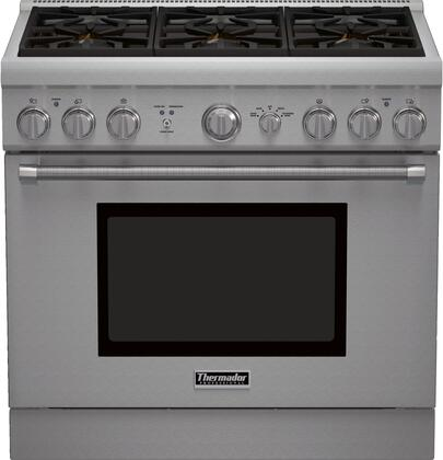 """Thermador PRL366GH 36"""" PRO Harmony Series Gas Freestanding"""