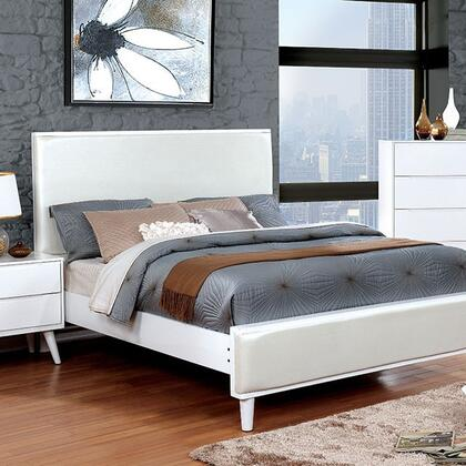 Furniture of America CM7387WHQBED Lennart II Series  Queen Size Panel Bed