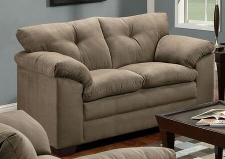 Simmons Upholstery 656502LUNA Loveseat with Fabric Upholstery, Stitched Detailing, Tufted Back and block Fe