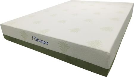 """Meridian AloeVera ALOEVERAM 10"""" Memory Foam Mattress with Removable Cover, Cool Gel Memory Foam, Eliminates Motion Transfer and Non-Slip Fabric in White Color"""