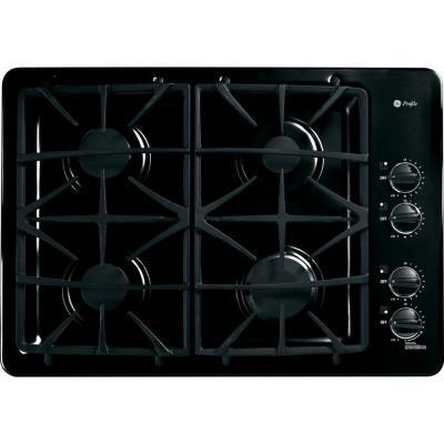 "GE Profile PGP943 30"" Built-In Gas Deep-Recessed Cooktop Cooktop, 4 Sealed Burners, Deluxe Cast-Iron Grates, Dishwasher-Safe Grates and Knobs, Electronic Ignition:"