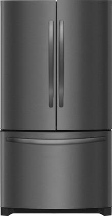 "Frigidaire FFHN2750T 36"" Energy Star Freestanding French Door Refrigerator with 27.6 cu. ft. Total Capacity, PureSource Ultra II Ice & Water Filtration, Ice Maker, and Full-Width Cool-Zone Drawer, in"