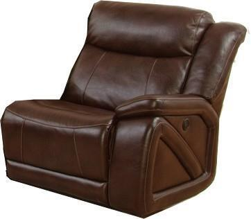 "New Classic Home Furnishings 22-225-13-PBW Park Place Power Glider Recliner with Arm, Hardwood Frames, Pocket Coil Cushion, Sinuous ""No Sag"" Deck Support and Fiber Fill Backs, in Brown"