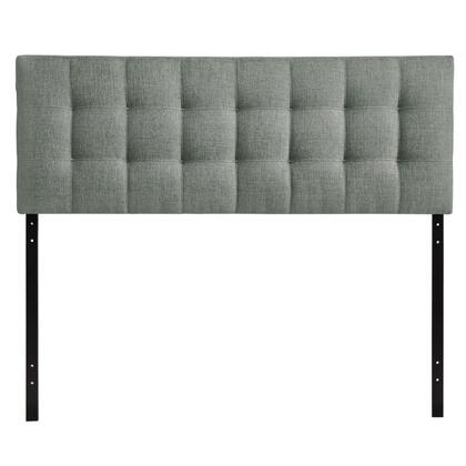 Modway MOD-5X4X-GRY Lily Contemporary Headboard with Button Tufted Details, Fiberboard and Plywood Frame, and Fine Polyester Upholstery in Gray