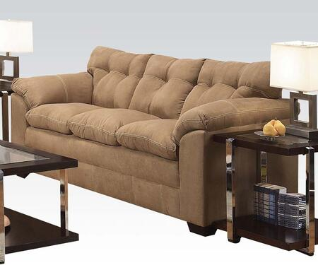 """Acme Furniture Lucille 90"""" Sofa with Pillow Top Arms, Block Feet, Tufted Back Cushions, Tight Seat Cushions, Made in USA and Microfiber Upholstery in"""