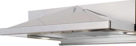 "Zephyr ZPY-E36AX290 Pyramid Series 36"" Under Cabinet Mount Range Hood, 290 CFM Internal Blower, 3 Speed Levels, 2 Halogen Lamps, 2 Metal Mesh Filters:"