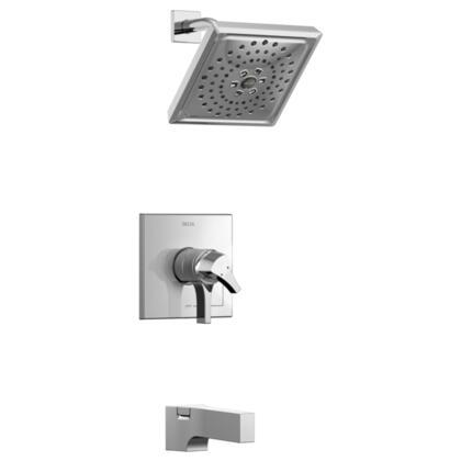 Zura T17474 Delta Zura: Monitor 17 Series H2Okinetic Tub and Shower Trim in Chrome
