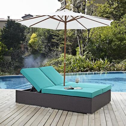 "Modway EEI2180EXPTRQSET 82.5"" Water Resistant Lounge Chair"